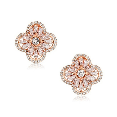 Gatsby Glam Earrings, Rose Gold Clip