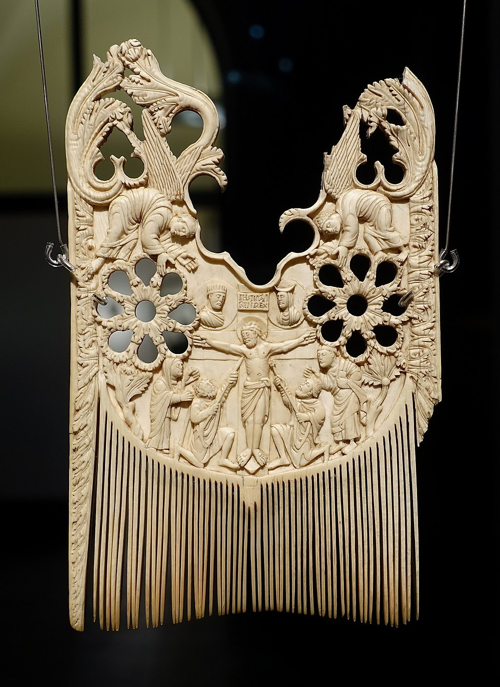 Carved Ivory Comb of St Heribert, 850-900CE