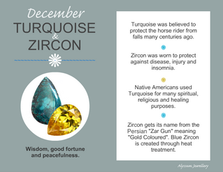 December's Birthstones – Turquoise and Zircon
