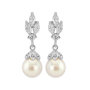 Crowned Pearl Earrings