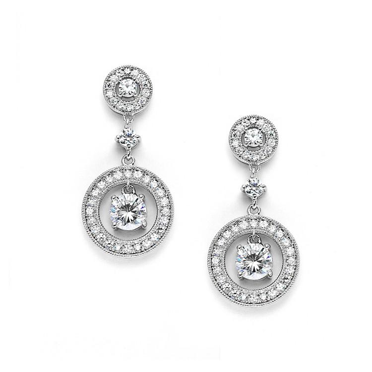 Pave Set Crystals in Alyssum Jewellery Earrings