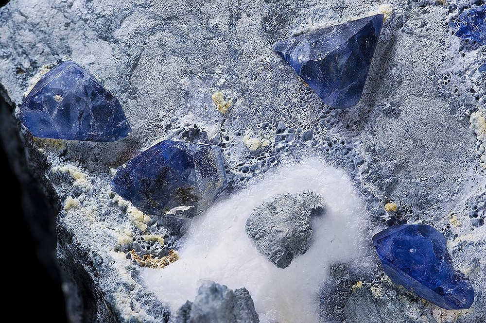 Raw Benitoite Crystal in Ore