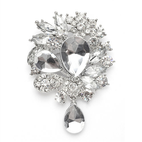 Vintage Inspired Crystal Bridal Brooch