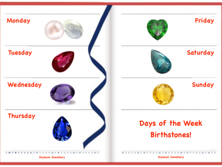 Birthstones for the Days of the Week