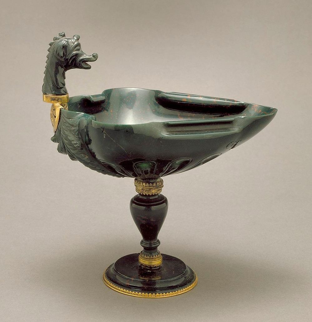 Bloodstone Dragon Drinking Vessel, early 17th Century