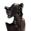 Large jet black clip on crystal earrings