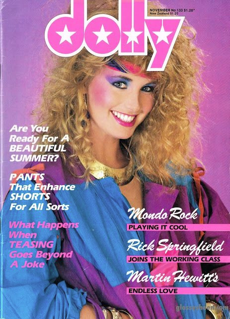 Old 1980s Dolly Magazine Cover