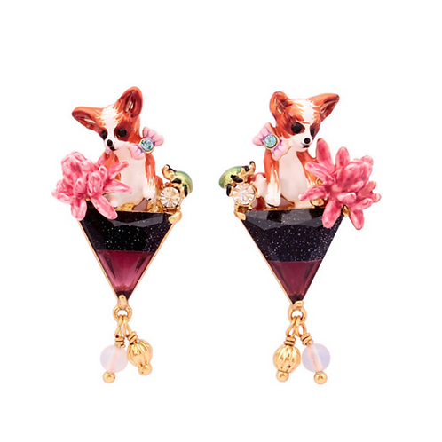 Quirky Hand-Made Chihuahua Clip-On Earrings
