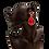 Thumbnail: Classic Rhinestone Framed Ruby Drop Earrings