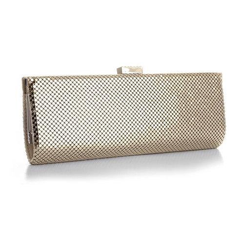 Light Gold mesh clutch bag evening purse