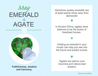 May's Birthstones – Emerald and Agate