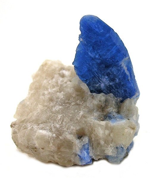 A Clear Bright Sapphire Blue Afghanite Crystal