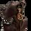 Scroll Framed Rainbow Vitrail Drop Clip Earrings on model