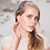 Pave Framed Pearl Bridal Clip-on Earrings on model