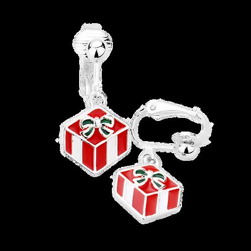 Christmas Gift Enamelled Clip On Earrings