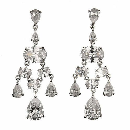 Crystal Heirloom Chandelier bridal earrings by Prive Bridal