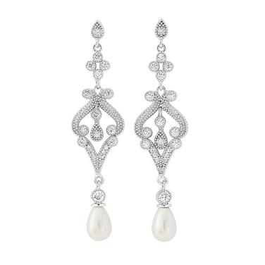 Vintage Styled Freshwater Pearl Earrings