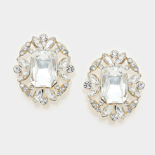 Heirloom styled clip on oval earrings