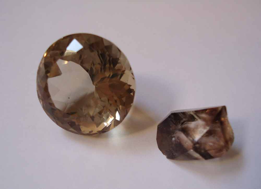 Smoky Quartz Faceted and Raw