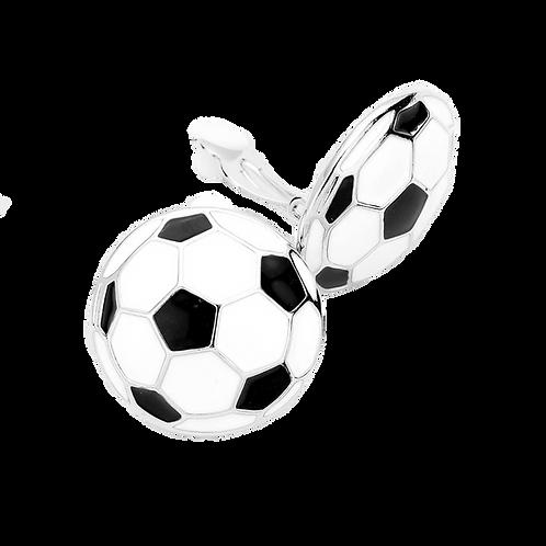 Soccer Ball Clip On Earrings