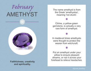 February's Birthstone - The Amethyst