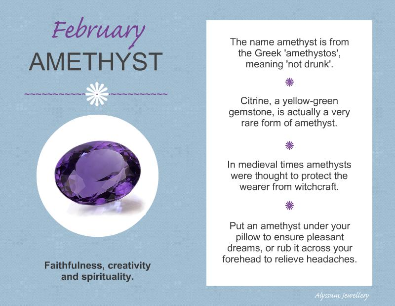 February Amethyst Birthstone Summary