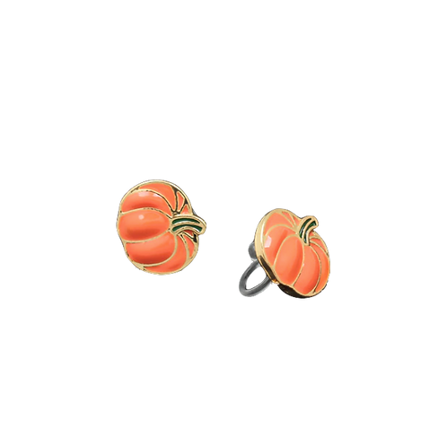 Pumpkin clip on Earrings