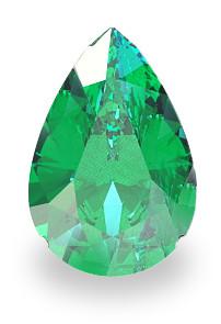 Pear Cut Emerald Gemstone