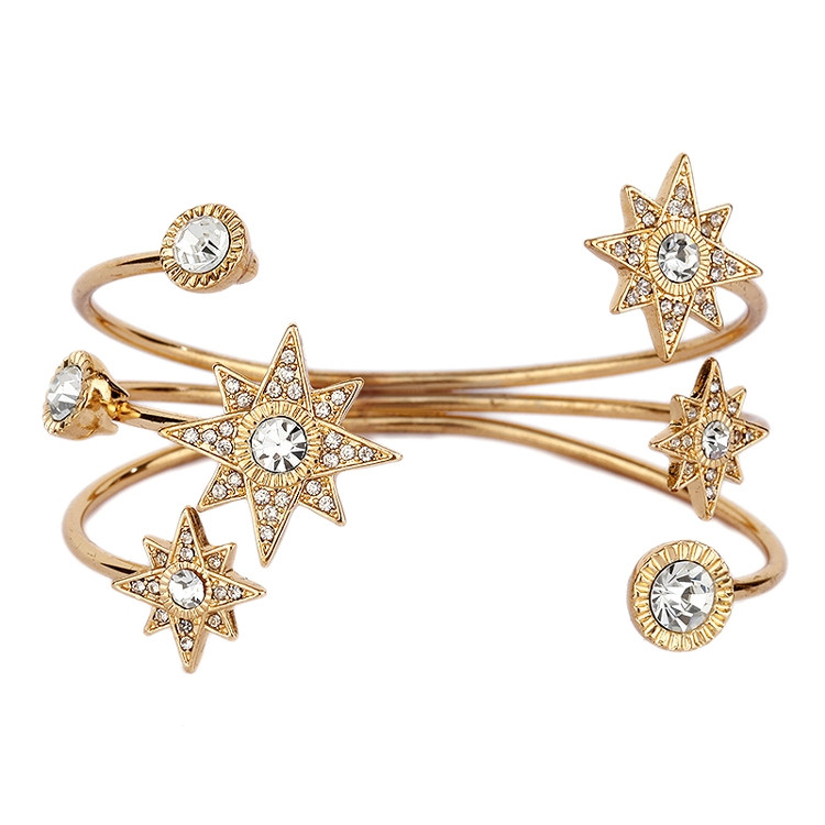 Stunning Gold Celestial Cuff Bracelet