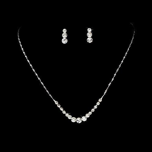Dainty Crystal Necklace Set