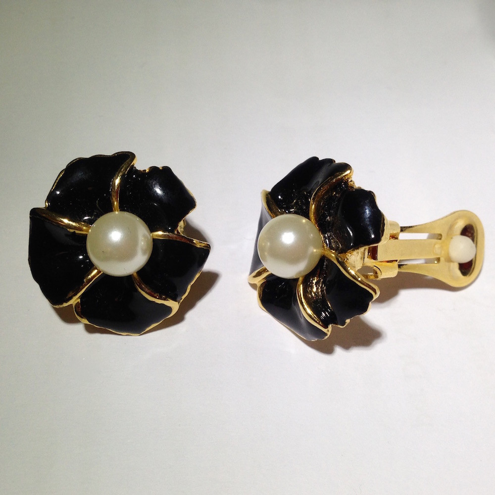 1950s Paddle Back Clip-On Earrings from Alyssum Jewellery