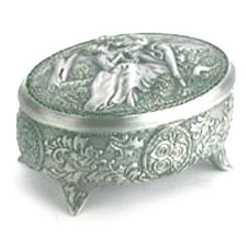 Embossed Pewter Trinket Box
