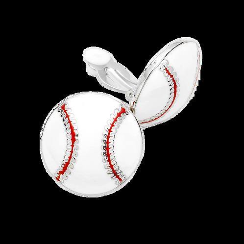 Softball Clip On Earrings