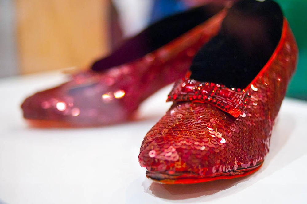 Dorothy's ruby red slippers from the Wizard of Oz