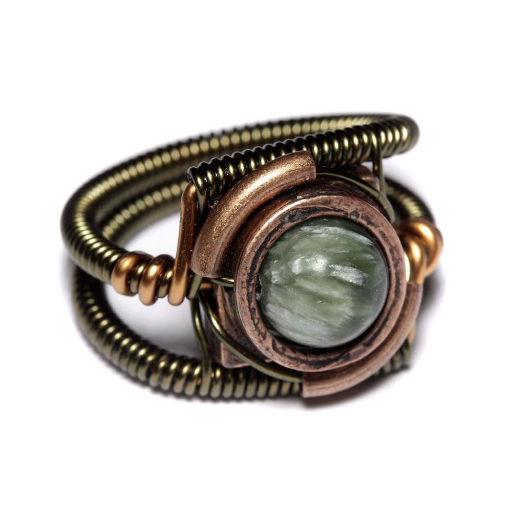 Seraphinite Steampunk Ring