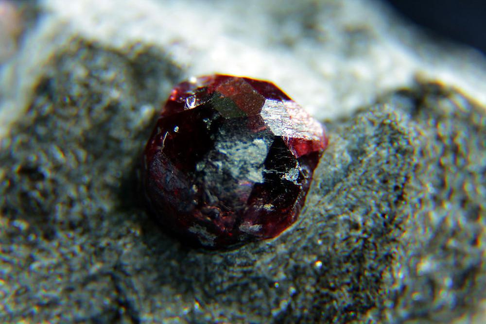 Polished Almandine Garnet in Raw Mineral