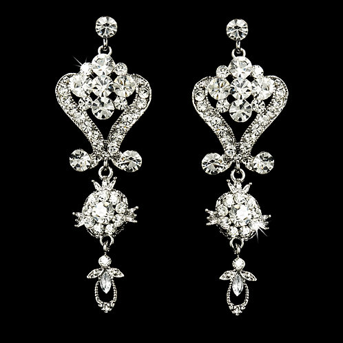 Rhinestone chandelier wedding earrings