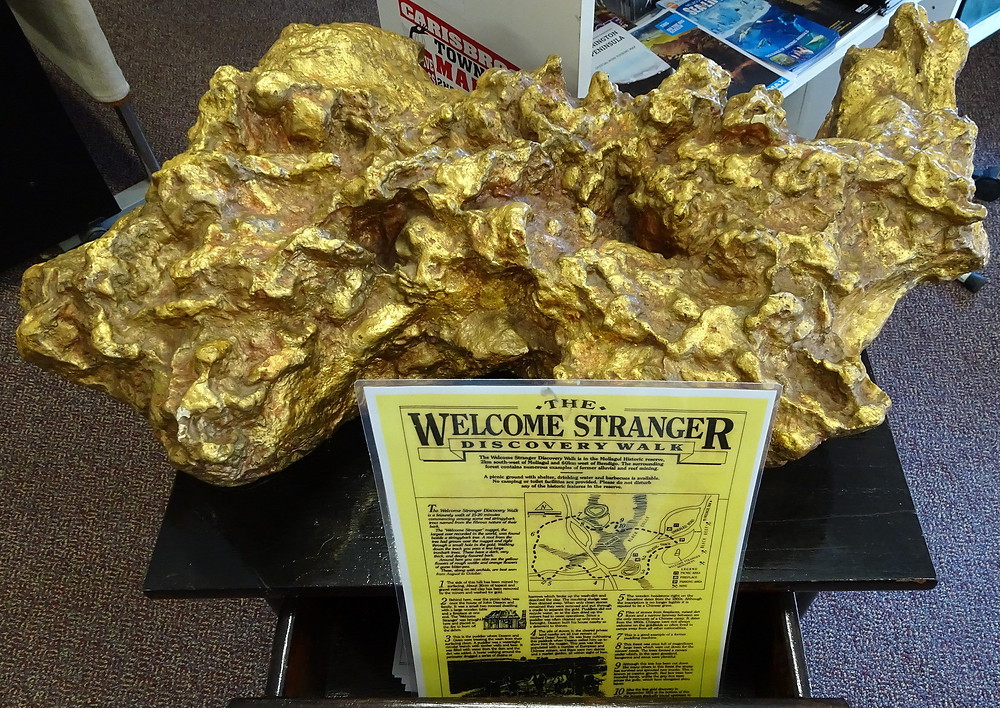 Replica of the Welcome Stranger Gold Nugget