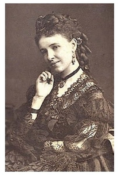 Victorian Lady Wearing Fashionable Mourning Jewellery