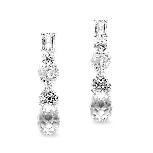 Crystal crop clip-on earrings