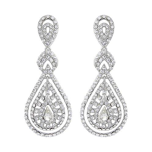 Clip on bejewelled bridal earrings