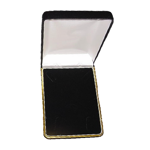 Black Flocked Necklace Set Box