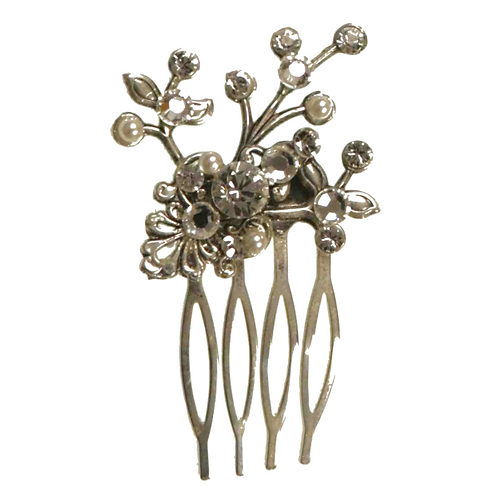 Small pewter hair comb by Jeanette-Maree