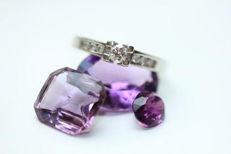 Amethyst Cut Gemstones