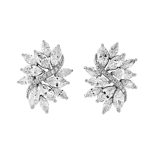Marquis crystal clip on earrings
