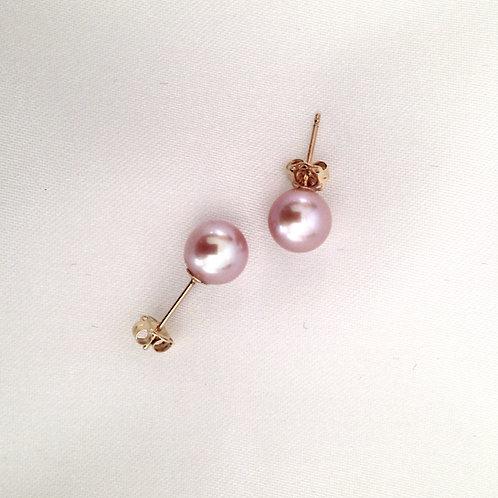 7mm Lilac Akoya Pearl Studs