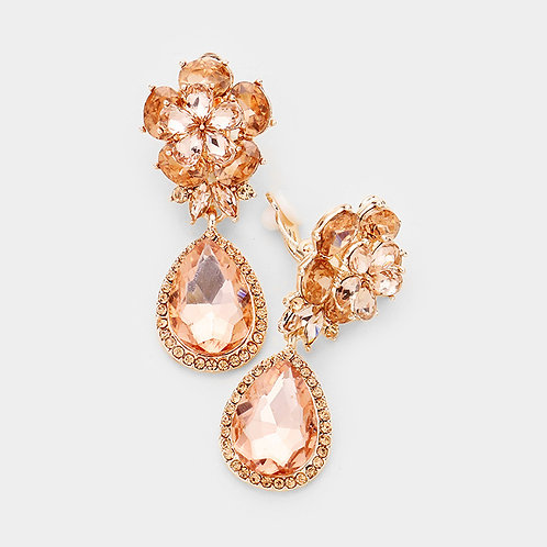 Rose Gold Flower Pear Drops