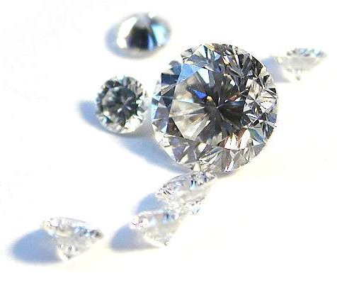 A scattering of faux diamonds