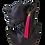 Long Pink Tassel Clip-On Earrings on Model