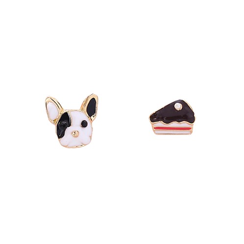 Frenchie and Gateaux Clip Earrings